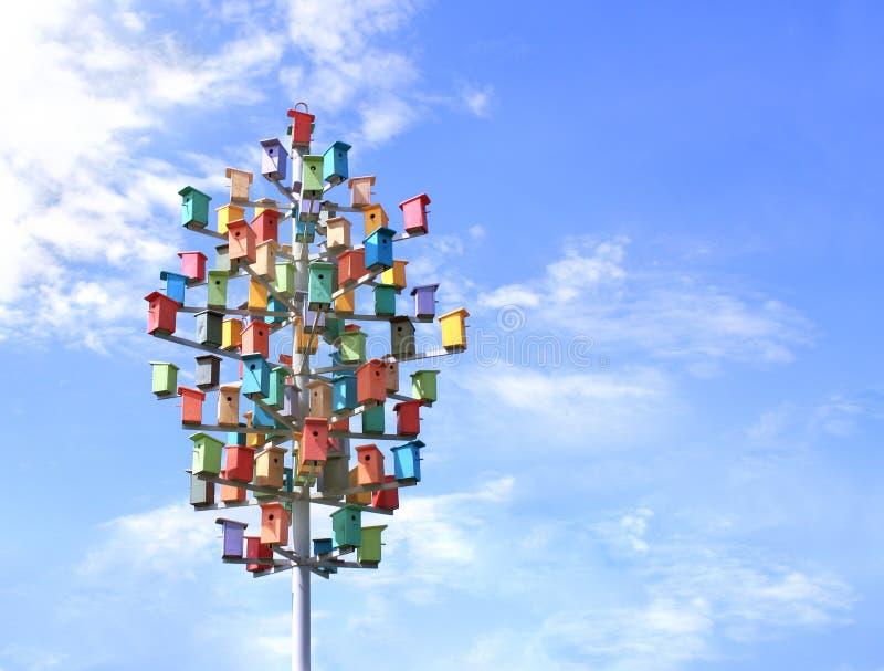 Caixas de assentamento coloridas imagem de stock