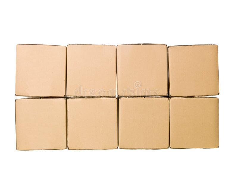 Caixas de cartão fotografia de stock