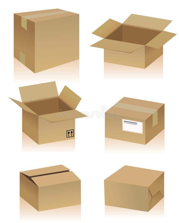 Caixas de cartão ilustração royalty free