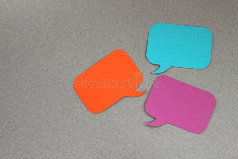 Caixas de diálogo foto de stock