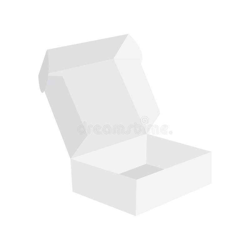 Caixas de empacotamento vazias abertas e fechados realísticas Vetor Eps10 ilustração stock
