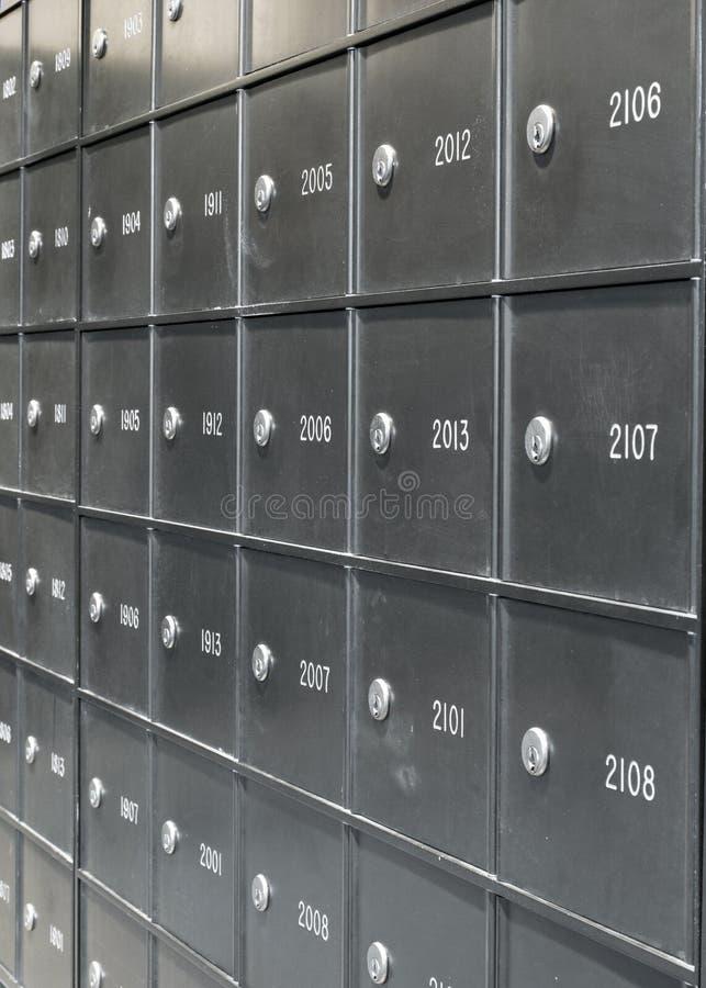 Caixas de estação de correios imagem de stock royalty free