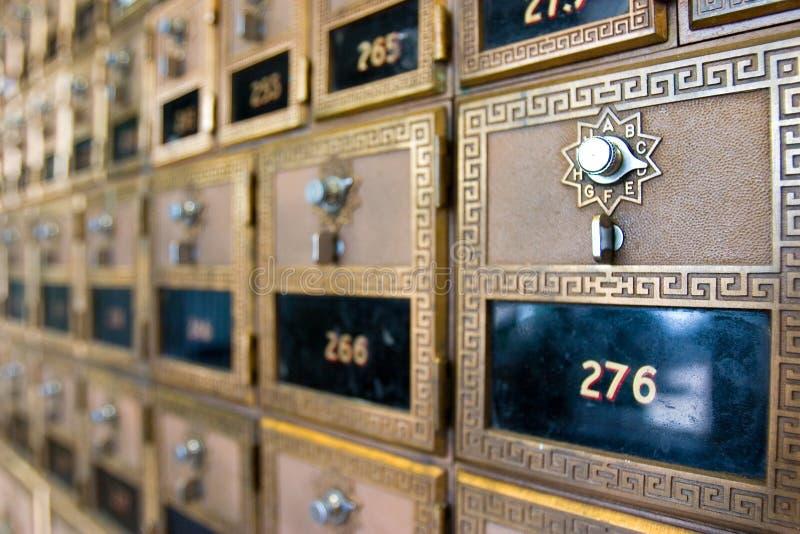 Caixas de estação de correios fotografia de stock
