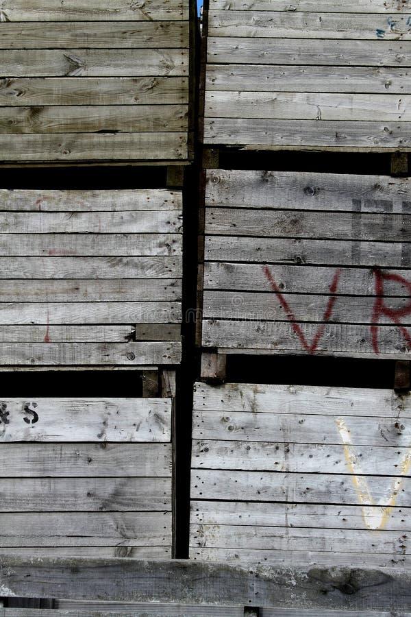Caixas de madeira foto de stock