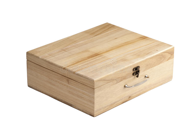 Caixas de madeira isoladas imagens de stock royalty free