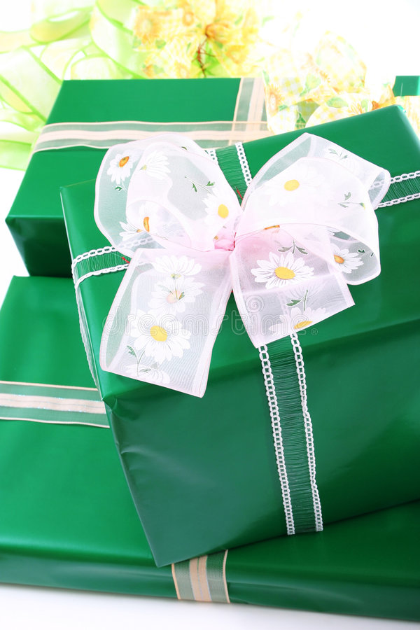 Caixas de presentes imagens de stock