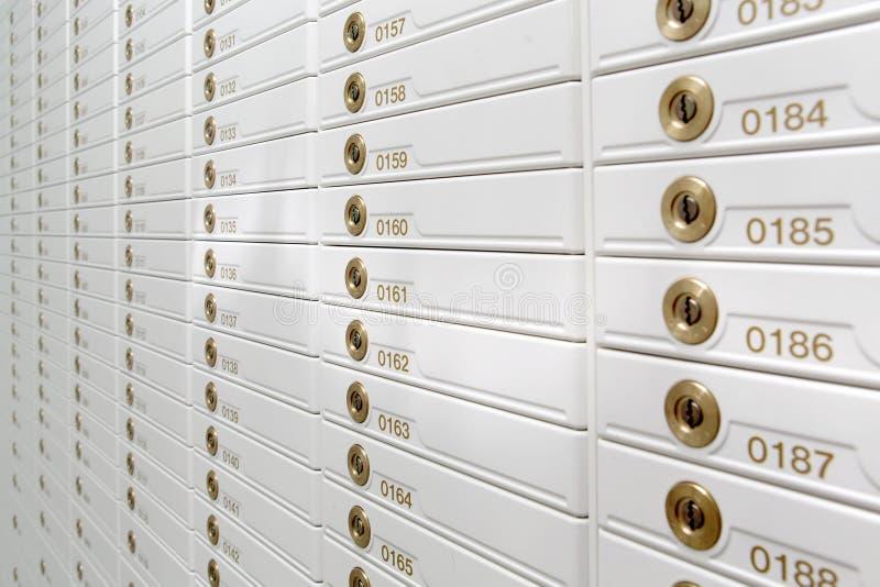 Caixas de segurança imagens de stock
