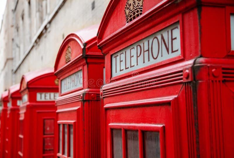 Caixas de telefone vermelhas de Londres imagens de stock royalty free