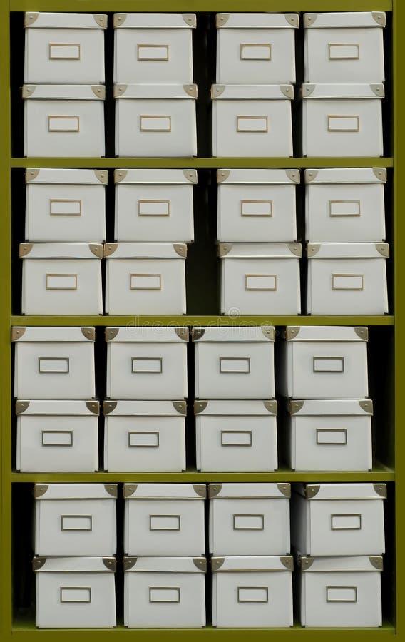 Caixas do arquivo imagens de stock