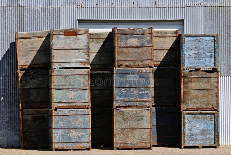 Caixas do fruto foto de stock