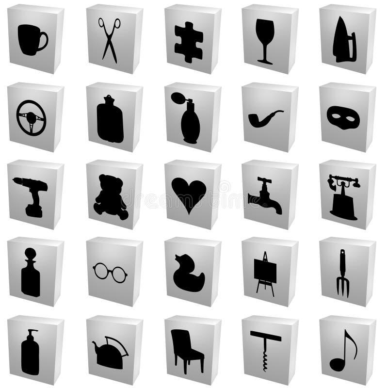 Caixas do produto ilustração royalty free