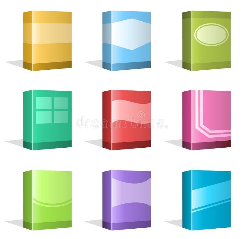 Caixas do software, projetos da tampa de Ebook ilustração stock