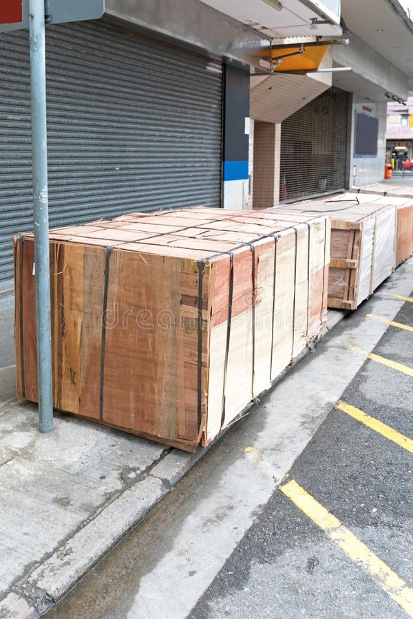 Caixas do transporte foto de stock