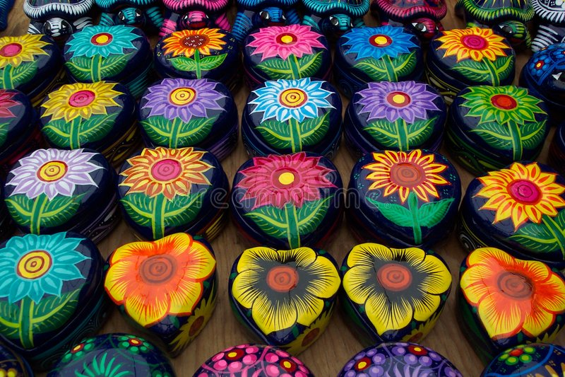 Caixas do Trinket de Taxco foto de stock