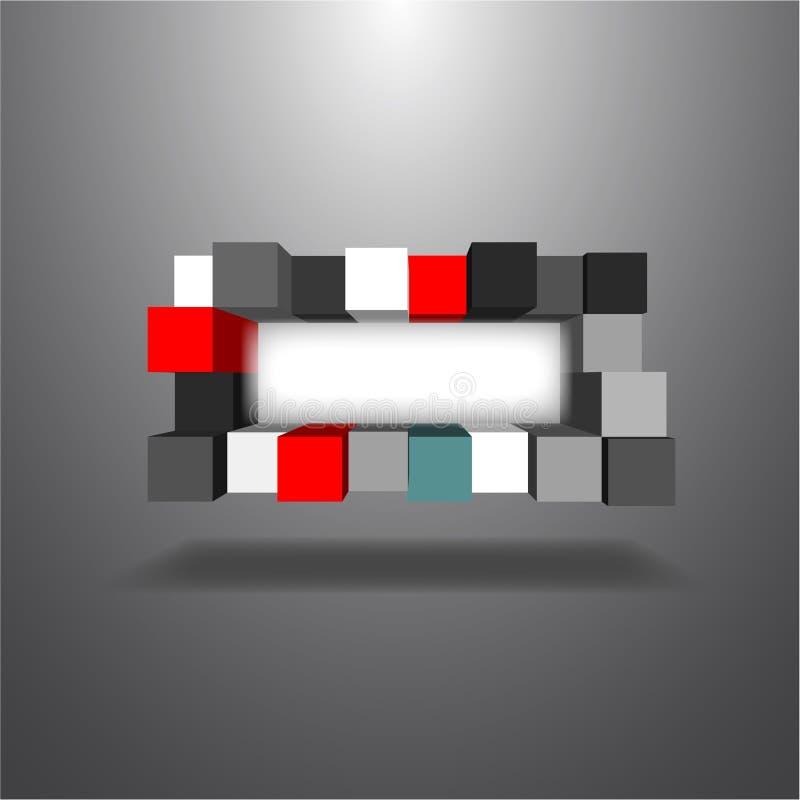 caixas 3Ds ilustração royalty free