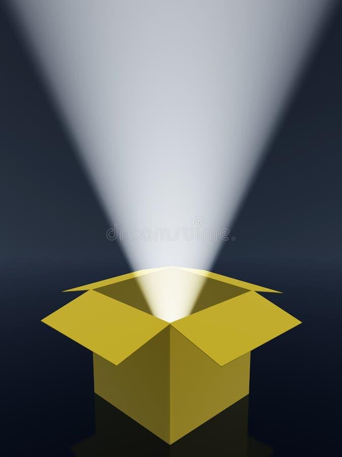 Caixas e raias de luz ilustração royalty free