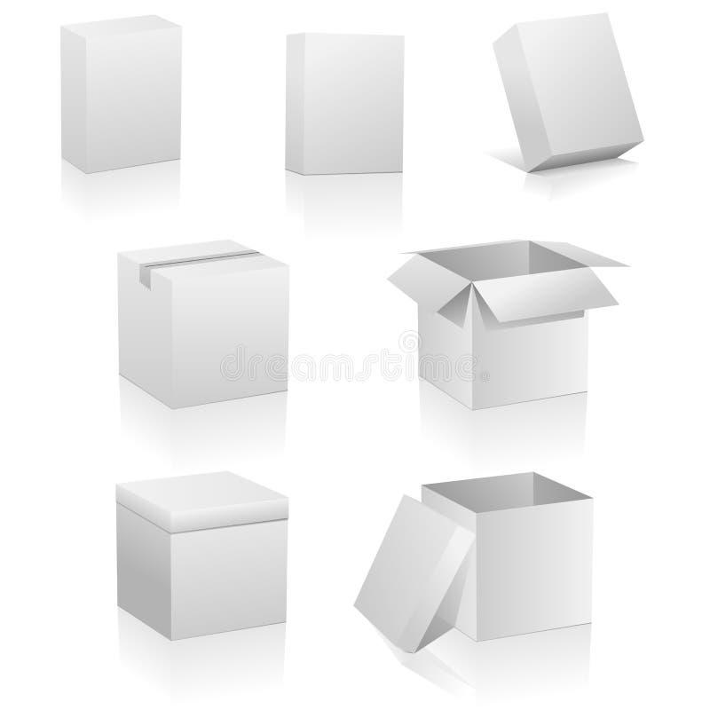Caixas em branco