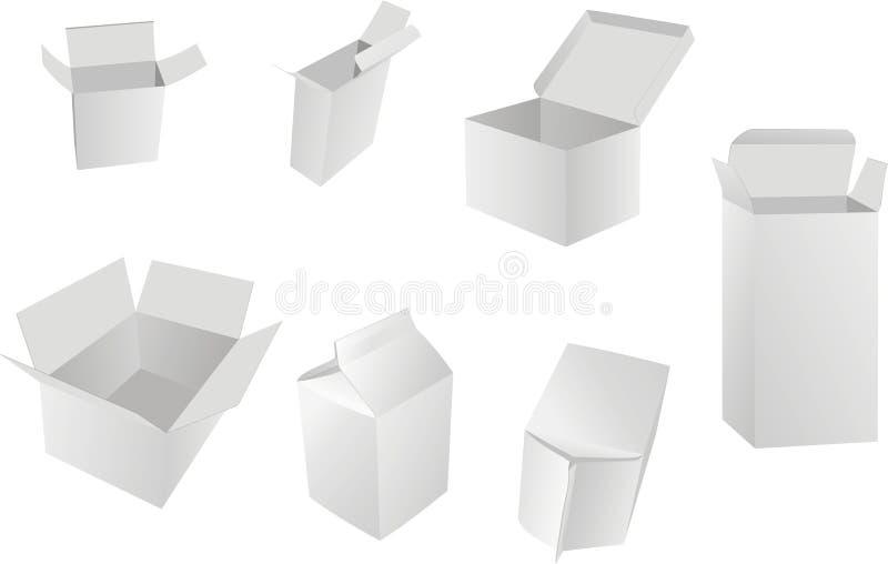 Caixas em branco ilustração stock