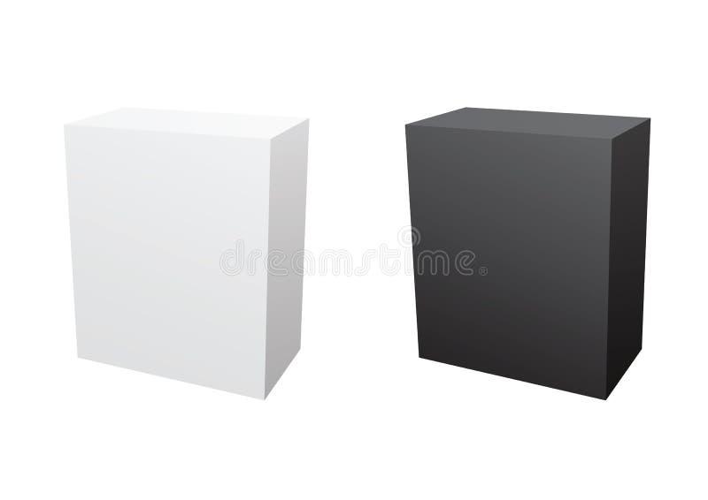 Caixas em branco do software ilustração do vetor