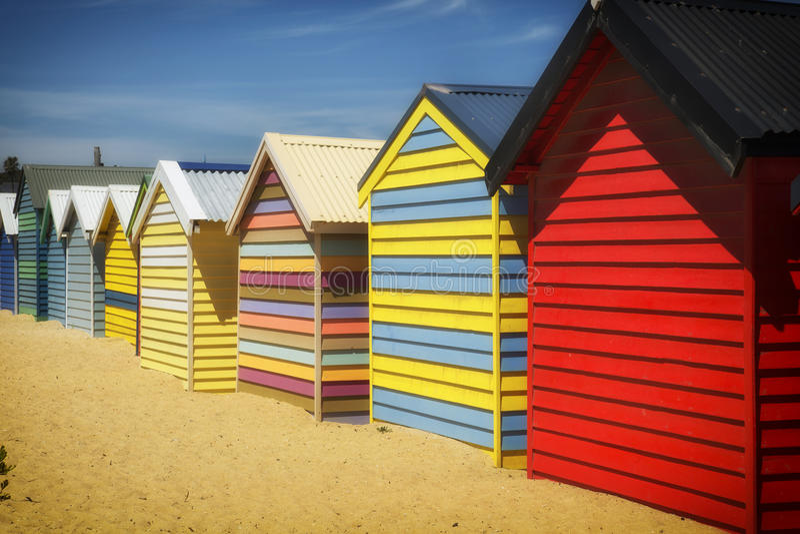 Caixas em Brigghton, Austrália imagem de stock royalty free