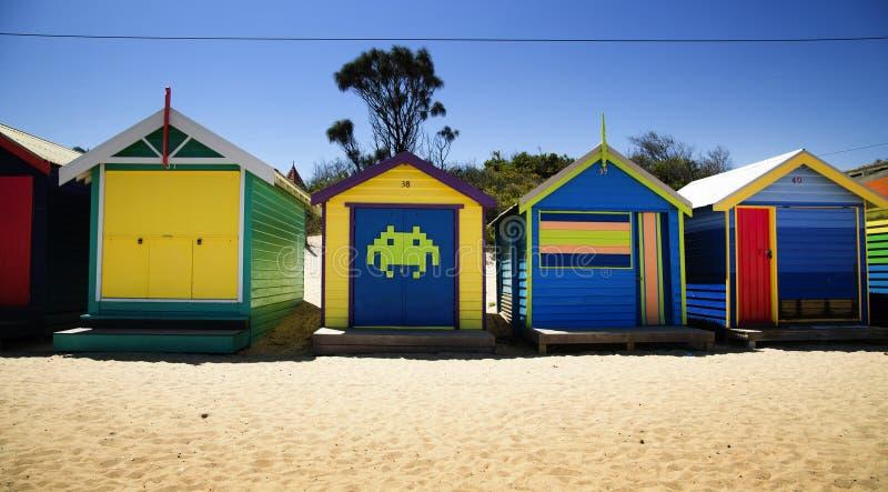 Caixas em Brigghton, Austrália imagens de stock royalty free