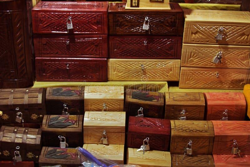 Caixas handcrafted mexicanas imagens de stock royalty free