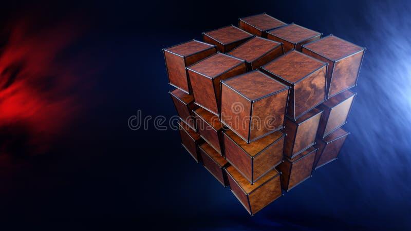 Caixas mágicas abstratas ilustração do vetor