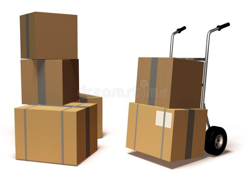 Caixas moventes ilustração do vetor