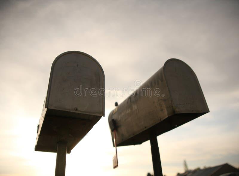 Caixas postais fotografia de stock royalty free
