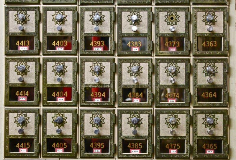 Caixas postais da velha escola imagens de stock