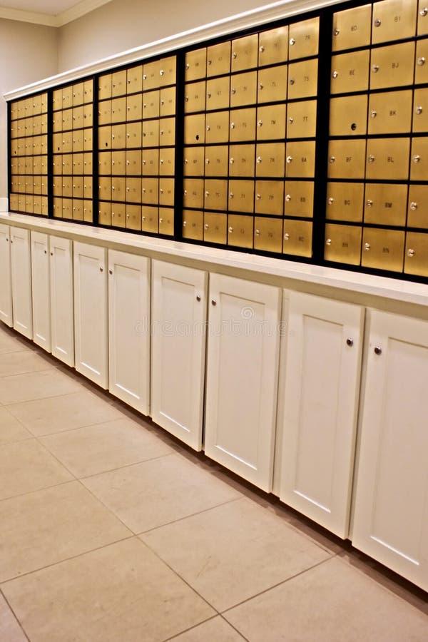 Caixas postais de bronze fotos de stock royalty free