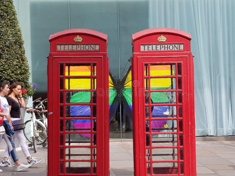 Caixas telefônicas de Londres fotos de stock