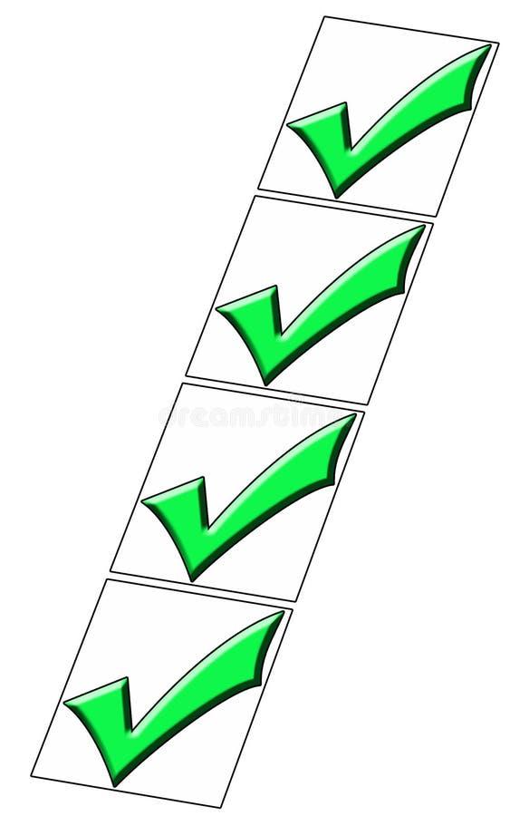 Caixas verific ilustração do vetor