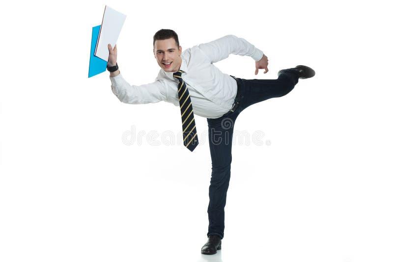 caixeiro de escritório em uma arremetida imagem de stock royalty free