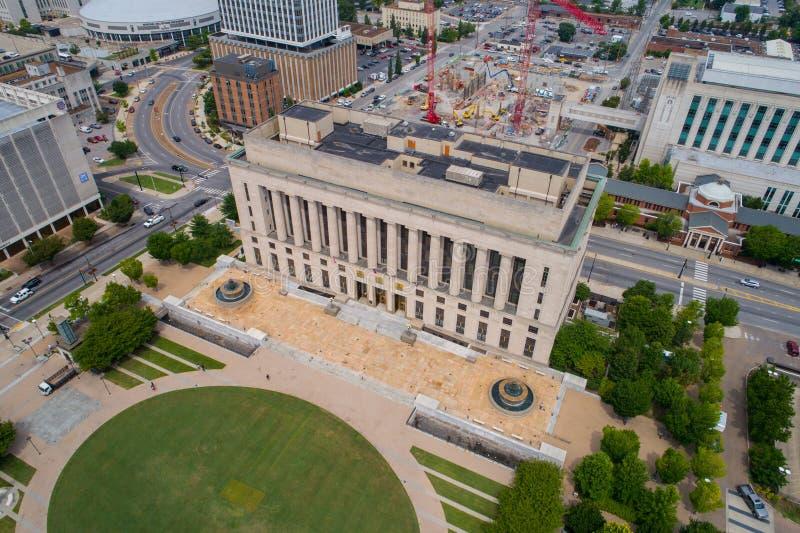 Caixeiro de tribunal distrital aéreo de Nashville da imagem imagem de stock royalty free