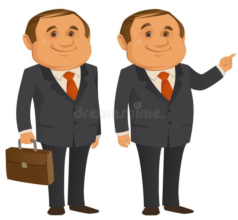 Caixeiro Man ilustração stock