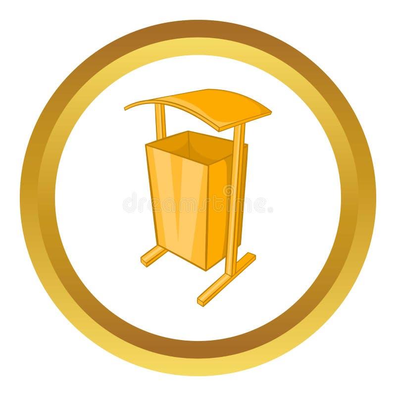 Caixote de lixo para o ícone do vetor de espaços públicos ilustração royalty free