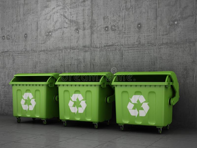 Caixotes de lixo do balde do lixo imagens de stock royalty free