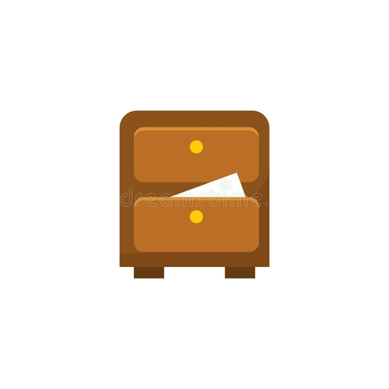Cajón de archivo de almacenamiento del gabinete - almacenamiento de la oficina - icono del negocio - ejemplo plano del vector ais stock de ilustración