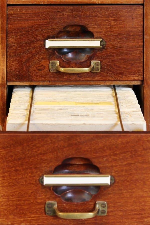 Cajón de caoba foto de archivo