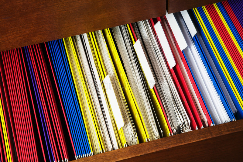 Cajón de fichero fotos de archivo