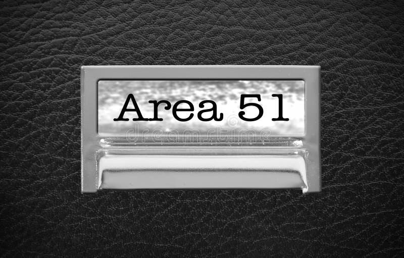 Cajón de fichero del área 51 fotos de archivo
