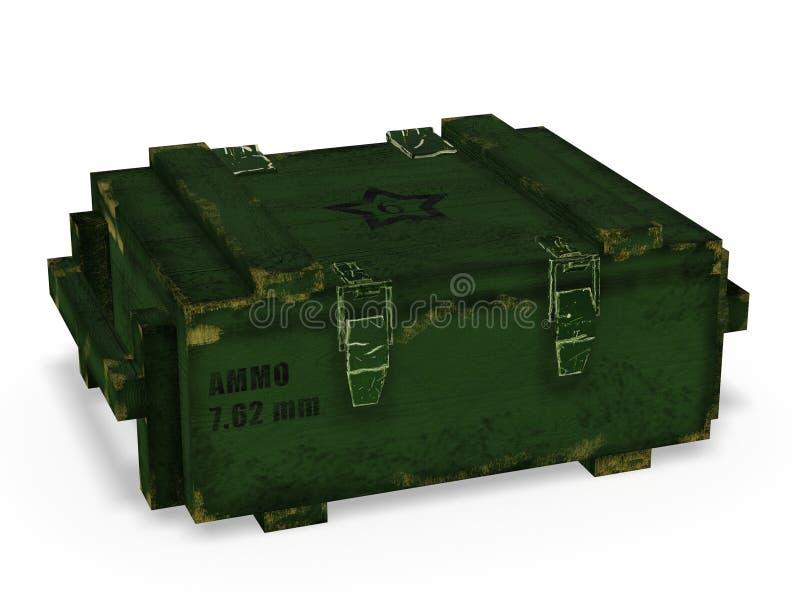 Cajón de la munición ilustración del vector