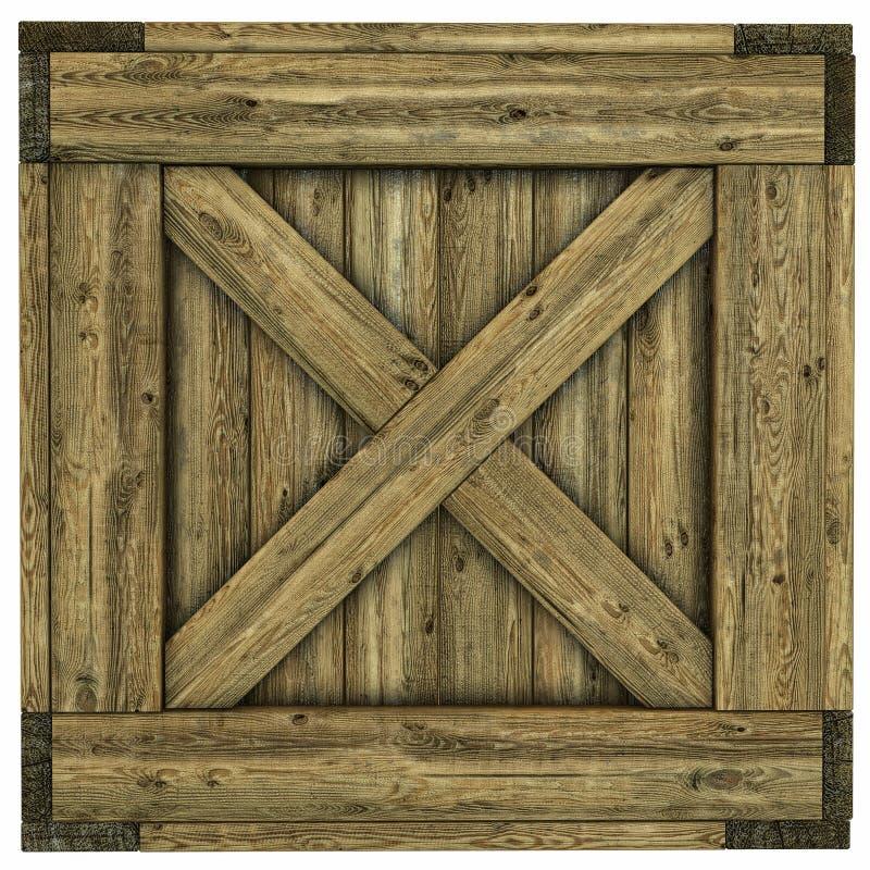 Cajón de madera ilustración del vector