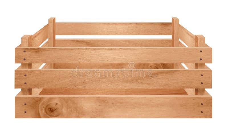 Cajón de madera aislado imagenes de archivo