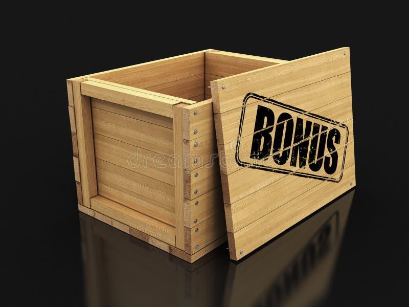Cajón de madera con prima del sello Imagen con la trayectoria de recortes libre illustration