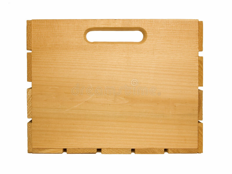 Cajón de madera de la fruta imagen de archivo