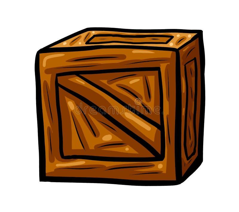Cajón de madera impresionante stock de ilustración