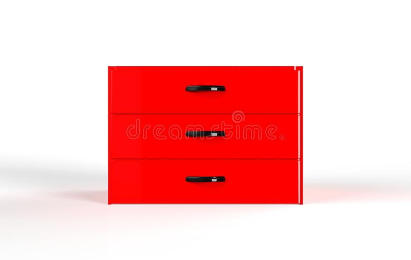 Cajón de tres estantes libre illustration