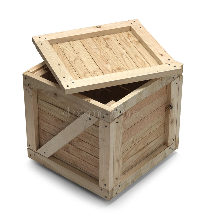 Cajón y tapa de madera imágenes de archivo libres de regalías